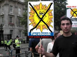 Greenpeace FaceBookers protest against global warming